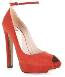 Herve Leger Balin High-Heel Peep-Toe Pump