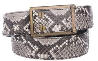 Lanvin Snakeskin Buckle Belt