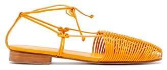 Hereu - Valva Woven Leather Sandals - Womens - Orange