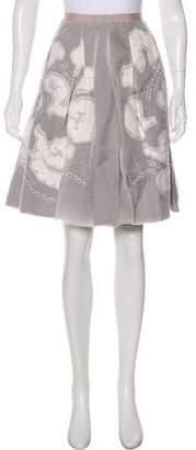 Bamford Pleated Knee-Length Skirt