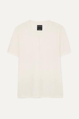 Nagnata - Net Sustain Trash Merino Wool-blend T-shirt - Cream