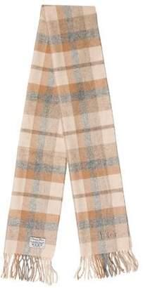 Christian Dior Wool Plaid Scarf