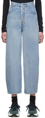 MM6 MAISON MARGIELA Blue High-Rise Jeans