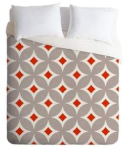Deny Designs Holli Zollinger Vermillion Diamond Queen Duvet Set Bedding
