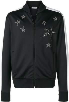 Valentino star embellished bomber jacket