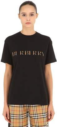 Burberry Oversized Check Logo Jersey T-Shirt