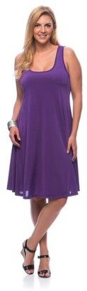 24/7 Comfort Apparel Women's Plus Size Sleeveless Tank Knee-Length Dress