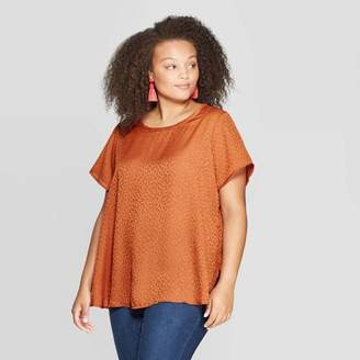 Ava & Viv Women's Plus Size Short Sleeve Crewneck Top