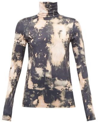 Acne Studios Eryn Tie Dye Jersey Top - Womens - Beige Multi