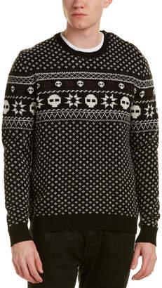 The Kooples Jacquard Wool Crewneck Sweater