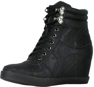 9d3f5b5f7a55 Refresh Footwear Women s High Top Hidden Wedge Fashion Sneaker
