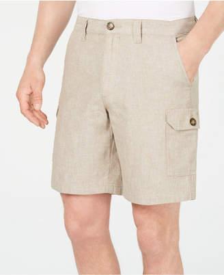 "Tasso Elba Men Linen Blend 9"" Cargo Shorts"