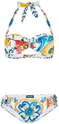 25349c36eecc7 Dolce   Gabbana Printed Swimsuit - ShopStyle