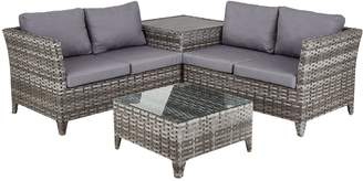 Very Aruba 4-Seater Rattan Corner Set