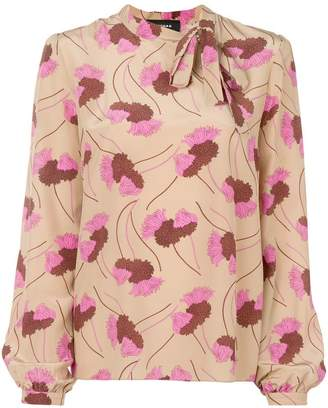 Rochas floral long-sleeve blouse