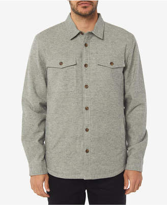 O'Neill Men Gravel Standard-Fit Taffeta-Lined Flannel Shirt