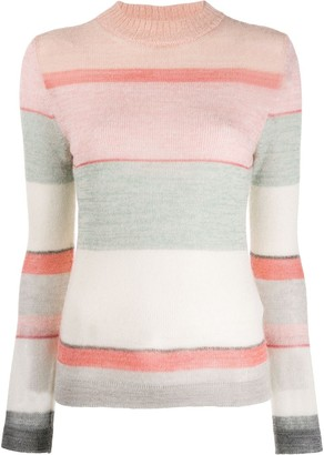 Missoni knitted striped sweater