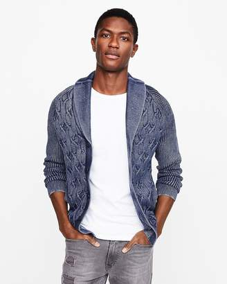 Express Garment Dyed Shawl Cardigan