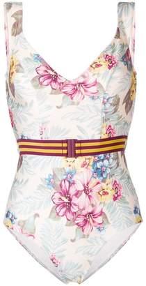 Zimmermann hibiscus floral print swimsuit