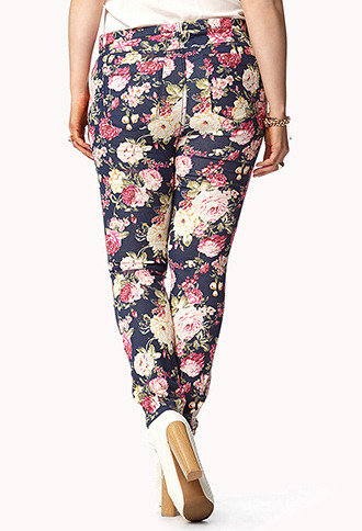 Forever 21 Sweet As A Rose Skinny Jeans