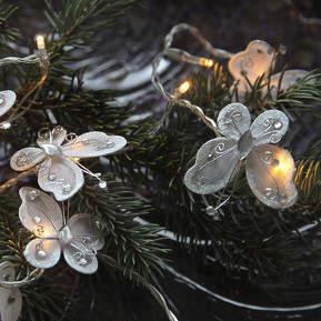 Butterfly Garland LED-Lichterkette, weiß