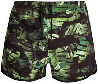 Neil Barrett Camouflage palm leaf-print swim shorts