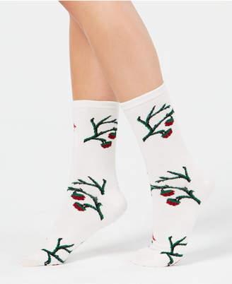 Charter Club Women's Holly Branch Crew Socks