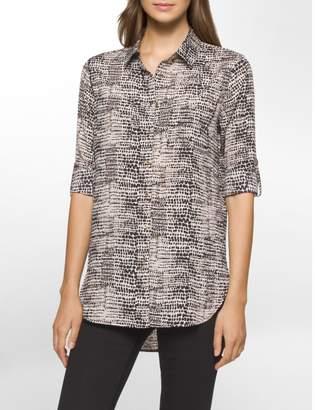 Calvin Klein animal roll-up sleeve tunic