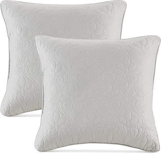 "Madison Park Quebec Quilted 20"" Square Decorative Pillow Pair"