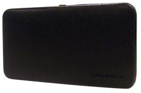 Isaac Mizrahi for Target® Crosshatch Hinge Clutch Case - Black