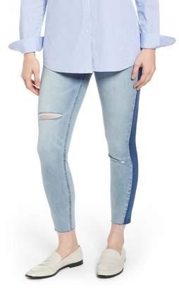 Spanx R) Washed Side Stripe Denim Leggings