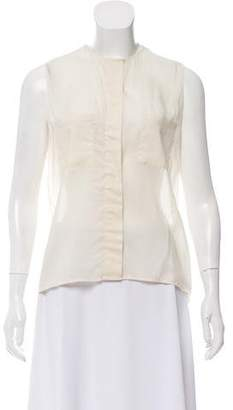 The Row Sleeveless Button-Up Blouse