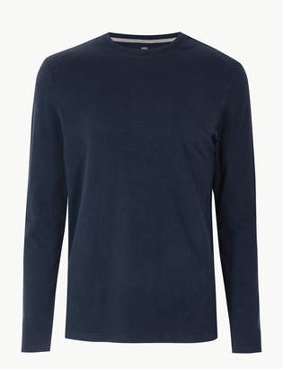0a38e0a72 M&S CollectionMarks and Spencer Pure Cotton Long Sleeve T-Shirt