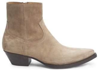 Saint Laurent Lukas Suede Ankle Boots