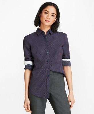 Brooks Brothers Cotton Clip-Dot Jacquard Shirt
