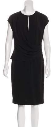 St. John Draped Sleeveless Dress