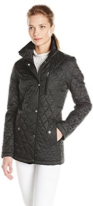 Nautica Women's Fitted Barn Quilted Jacket $150 thestylecure.com