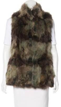 Jocelyn Multicolor Fur Vest