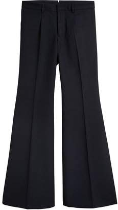 Burberry Wool Twill Flared Tailored Trousers