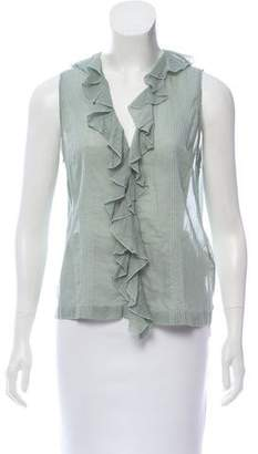 Miu Miu Sleeveless Button-Up Top