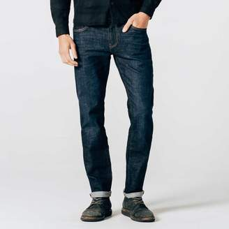 DSTLD Mens Slim Jeans in Six-Month Dark Worn