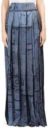 Roberto Cavalli Women's Silk Plisse Maxi Skirt