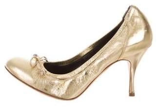Alexander McQueen Metallic Low Heels