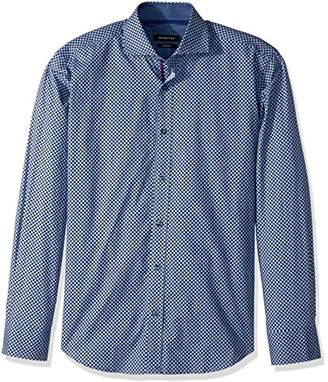 Bugatchi Men's Cotton Slim Fit Spread Collar Woven