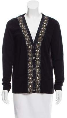 Tibi Embellished Wool-Blend Cardigan
