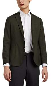 Brooklyn Tailors Men's Worsted Wool Two-Button Sportcoat - Dk. Green