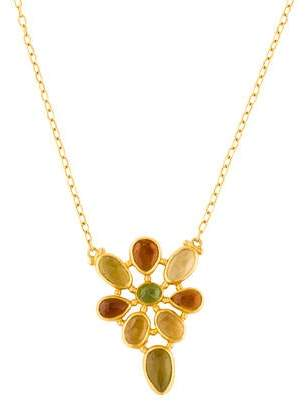 Gurhan Elements Tourmaline Cluster Pendant Necklace