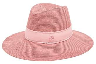 Maison Michel Kate Straw Hat - Womens - Pink