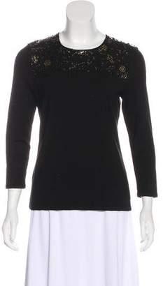 Oscar de la Renta Cashmere-Blend Sweater