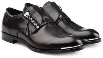 Alexander McQueen Leather Monk Strap Loafers